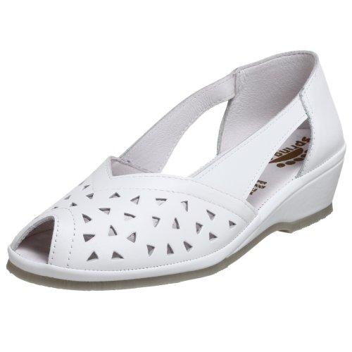 Spring Step Bow - Spring Step Women's Bow Slip-on Flat,White,40 M EU/9 B(M)