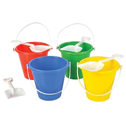 Beach Sand Pails With Shovels Pool Party Toys 5.5