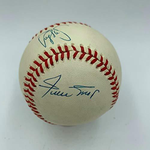 Rare Willie Mays, Barry Bonds & Bobby Bonds 30/30 Club Signed Baseball JSA