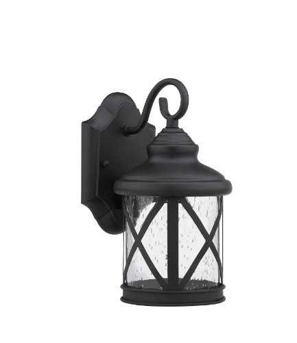 Chloe Lighting Chloe Lighting Milania Adora Transitional Wall-Mount 1-Light Outdoor Black Sconce