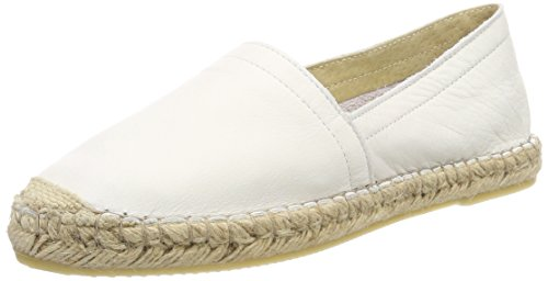 Pieces Women's Pskatie Leather Espadrilles White 6idGG7R