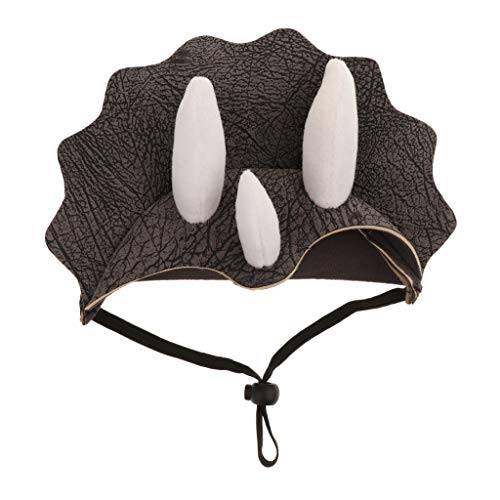 Baosity Little Pet Triceratops Cosplay Costumes Dog Cat Captain Fancy Hat Apparel ()