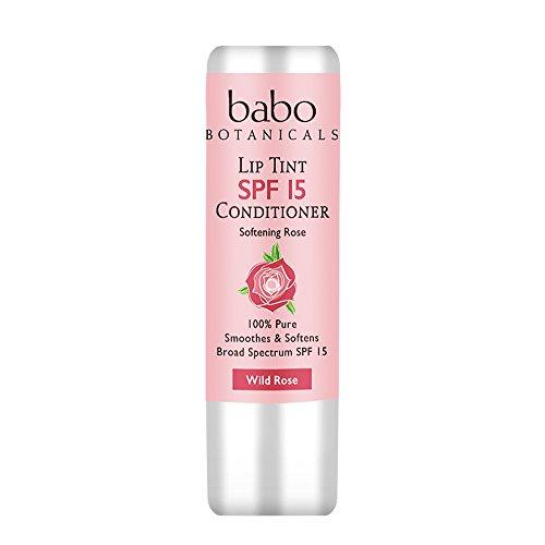 Babo Botanicals SPF 15 Lip Tint Conditioner, Wild Rose, 0.15 Ounce by Babo Botanicals (Image #1)