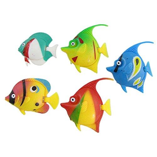Mallofusa 5PCS Artificial Aquarium Decoration Decor Plastic Fish