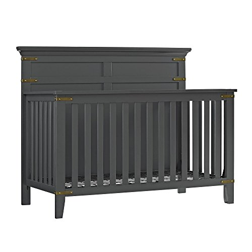 Baby Relax Kellee 4-in-1 Convertible Crib, Slate Gray