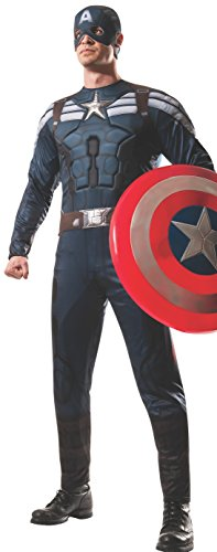 Adult Captain America 2 Stealth Muscle Chest Costume