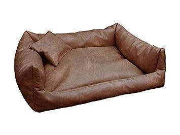 Rex cama para perros Dormir Espacio piel sintética XXL 100 x 140 color: Preston (muy resistente piel sintética) Perros sofá + cojín: Amazon.es: Productos ...