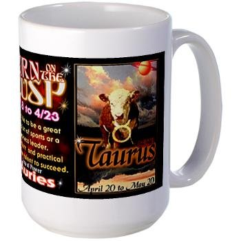 Amazon.com: valxart aries-taurus CUSP Taza zodiaco ...
