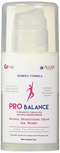 Crème à la progestérone naturelle Pro balance pour les femmes