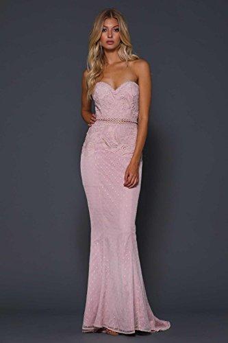 Elle 8 Trimmen Blush Rigel 4 US Schiere Zeitoune mit Kleid UK Spitze Taille Detaillierte rSP6rxqwz
