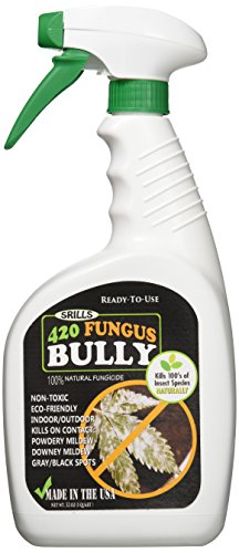 Srills 420 Fungus Bully - All Natural Organic Plan Mildew Mold & Fungus Killer / Control Spray 25b (32oz)