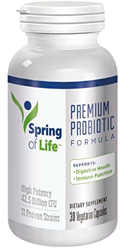 (Spring of Life Pure Probiotic Supplement, 42.5 Billion CFU, 11 Probiotic Strains, No Refrigeration Necessary, 30 Day Supply)
