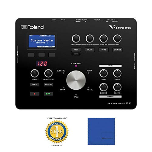 Roland TD-25 V-Drums Sound Module with Microfiber and 1 Year Everything Music Extended Warranty