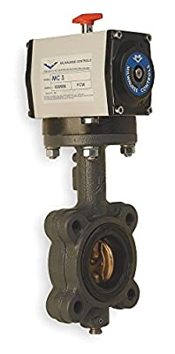Milwaukee Valve - GLA23E D 3 - 3 Cast Iron Double Acting Pneumatically Actuated Butterfly Valve With EPDM Seat Material from Milwaukee Valve