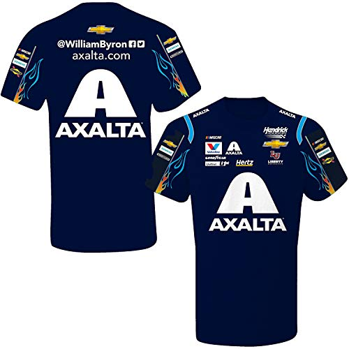 - SMI Properties William Byron 2019 Axalta Sublimated Pit Crew NASCAR T-Shirt (XX-Large) Blue