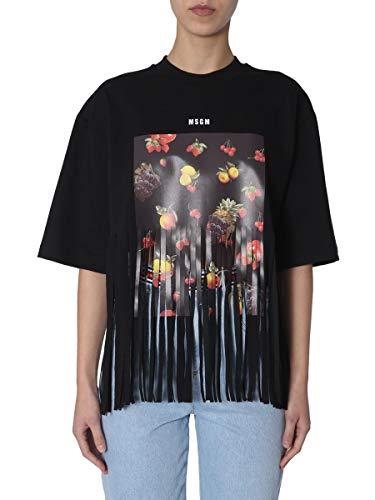 T shirt Algodon 2641mdm6419529899 Mujer Negro Msgm 4wqFz0F
