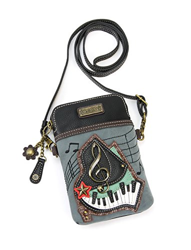 Charms Designer Purses - Chala Crossbody Cell Phone Purse-Women PU Leather Multicolor Handbag with Adjustable Strap - Piano Keys - Indigo