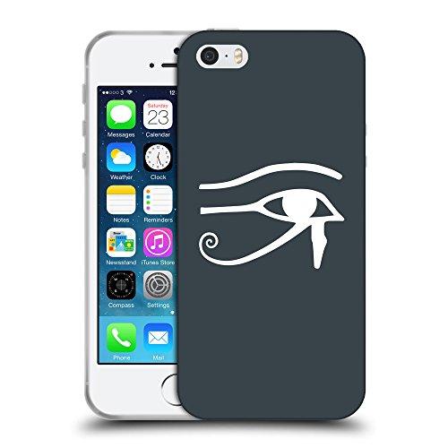 GoGoMobile Coque de Protection TPU Silicone Case pour // Q09590606 Horus eye 2 Arsenic // Apple iPhone 5 5S 5G SE