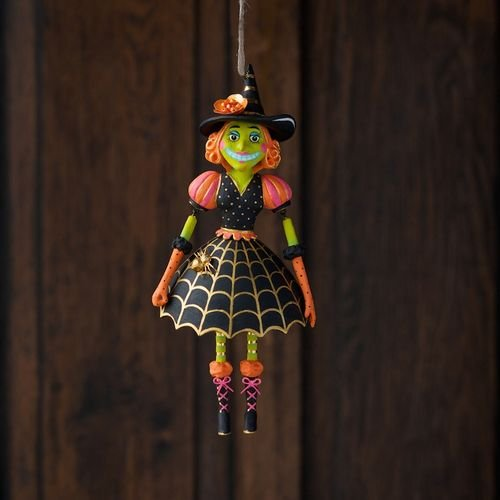 Glitterville Itchy Witchy - Halloween Witch Ornament