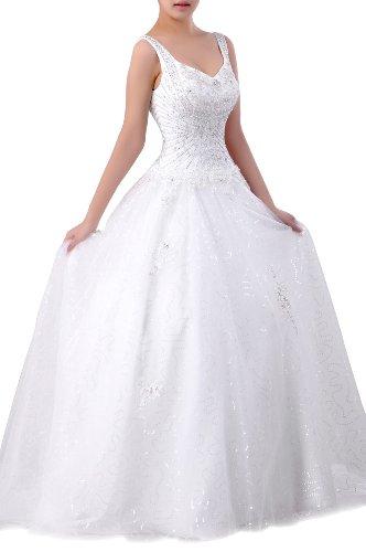 Champagne Senza Wedding Lungo Vestito Mano Perline Maniche Sposa Natrual Cinghie Sweetheart In Tulle xq0OvxT7