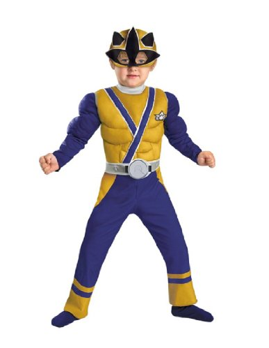 [Gold Ranger Samurai Muscle Costume - Toddler Small] (Power Ranger Samurai Costumes)