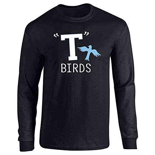 T Birds Gang Logo Costume Retro 50s 60s Costume Black L Long Sleeve T-Shirt]()