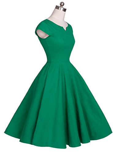 Drt019 Vestito 1950s Couple Fairy Retro Tappi Verde Ball Stipulazione Pois Huelsen Rockabilly vgxHxzn