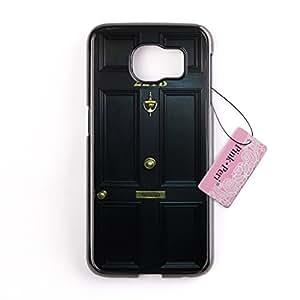 Pink Peri™ 221 B Street Door Sherlock Hard Phone Case For Samsung Galaxy S6 Edge cases (Black)