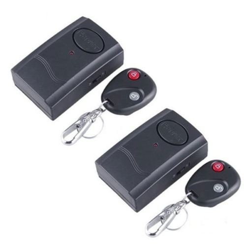 2x Security Alarm Wireless Remote Control Vibration Door/Window Detector Burglar