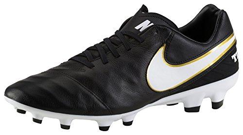 Nike Mens Tiempo Genio Ii Pelle Fg Bacchetta Da Calcio Nera