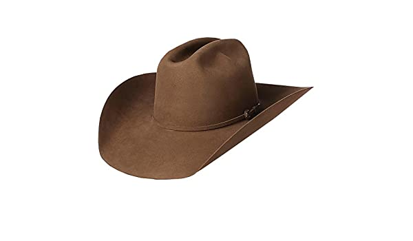 4c5a371ed9f NRS American Hat Company Mens 200x Pecan 4 1 4 Brim Felt Open Crown Cowboy  Hat Brown at Amazon Men s Clothing store