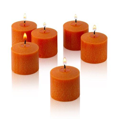 Orange Votive Candles Unscented Decorations product image