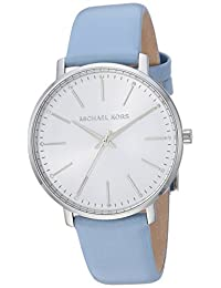 Michael Kors Women's Quartz Stainless Steel and Leather Casual Watch, Color:Blue (Model: MK2739)