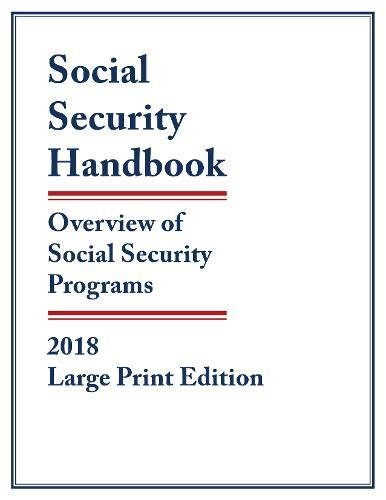 Social Security Handbook 2018  Overview Of Social Security Programs
