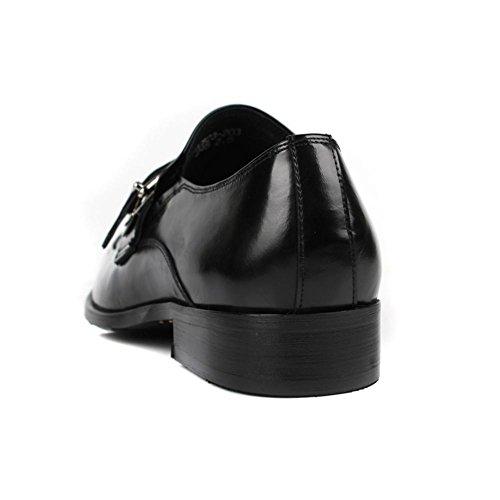 Hombres Oxford Cuero Zapatos Ponerse Hebilla Formal Boda Negocio Inteligente para los hombres Negro marrón Oficina Trabajo Fiesta Negro