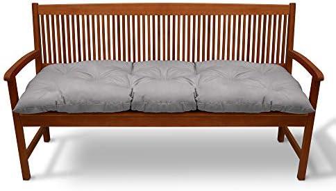 Beautissu Cojines para Bancos Flair BK 120x50x10 cm Cómodo Acolchado Banco de jardín/Columpio Hollywood Gris Claro: Amazon.es: Jardín