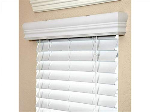 2 Faux Wood Blinds 45 X 40 White