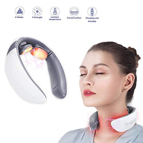 Ben Belle Neck Massager,Intelligent Wireless Portable 3D Neck Massage Equipment with Heating Function