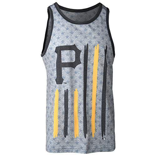 FOCO MLB Pittsburgh Pirates Big Logo Flag Tank - Mens Double Extra Large