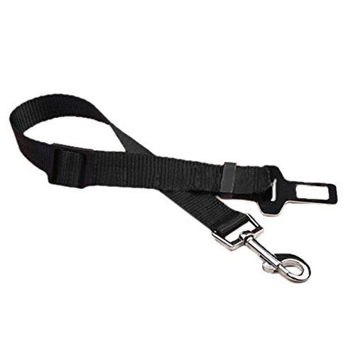 (Gadgets Mall 1Pc Adjustable Pet Dog Cat Safety Leads Car Vehicle Seat Belt Harness Seatbelt, Made from Nylon (black))