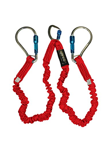 Elk River 35716 Flex-NoPac Energy-Absorbing 2 Leg Polyester Web Lanyard with Aluminum Zsnaphook and Large Aluminum Carabiner, 3600 lbs Gate, 6' Length x 1-1/2