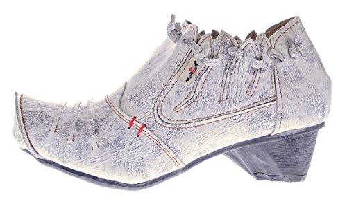 Tacón Mujer Zapatos Cerrada Punta crema Con Tma De Blanco zExqwpZq