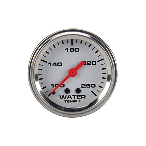 Mechanical Water Temperature Gauge, 2-1/16 Inch, White