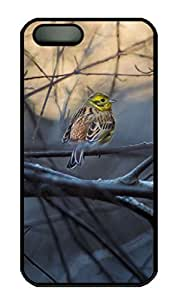 iPhone 5S Case, iPhone 5 Cover, iPhone 5S Yellowhammer Hard Black Cases