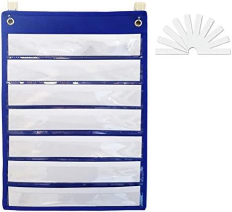 NUOBESTY Taschendiagramm mit 10 weißen Tafeln für Standards, Tagespläne, Aktivitäten, Klassenvorführungen
