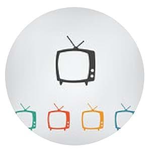 alfombrilla de ratón icono del vector de la TV - ronda - 20cm