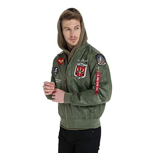 Verde2 Jacket Cazadora Classics Chaqueta Baijiaye Basic Chaquetón De Bomber Entretiempo Hombre Bombardero qPFfgFUw