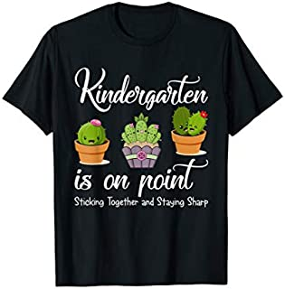 Team Kindergarten Teacher Back To School Cactus T-shirt | Size S - 5XL