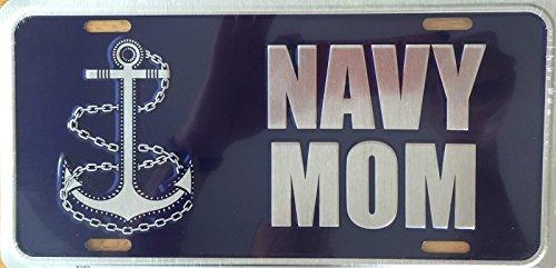 NAVY MOM Premium Embossed License Plate (LP-1109-167)