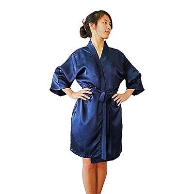 Women's Luxury Silky Satin Kimono Style Bathrobe